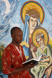 African Man Reading the Bible Photographic Print