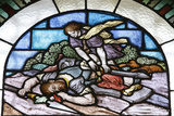Stained Glass, David and Goliath Photographic Print