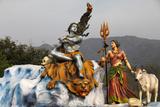 Shiva and Parvati Statue in Rishikesh Photographic Print