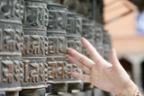 Tibetan Prayer Wheels, Swayambunath Temple Photographic Print