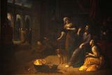 Paris, France Saint Gervais-Saint Protais Church, Jesus with Sisters Mary and Martha Photographic Print