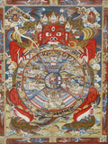 Wheel of Life or Wheel of Samsara, Kopan Monastery Photographic Print