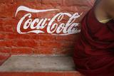 Monk's Robe and Coca-Cola Ad Photographic Print