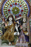 Shiva and Parvati Sculpture in a Hardwar Temple Photographic Print