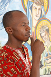 Catholic Man Praying Photographic Print