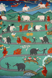 White Elephant Tale at Kopan Monastery Reprodukcja zdjęcia