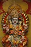 Lakshman Temple in Rishikesh, Vishnu with His Shankha Photographic Print
