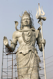 Tall Shiva Sculpture in Hardwar Photographic Print