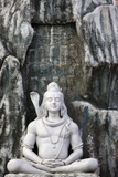 Shiva Statue in Lakshman Temple, Rishikesh Photographic Print