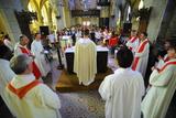 Ascension Mass at Mont Saint Michel Abbey Photographic Print