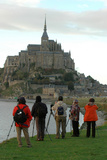 Japanese Tourists at Mont Saint Michel Photographic Print