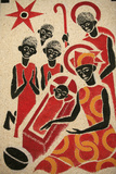 Nativity, the Keur Moussa Abbey Church Fresco was Designed and Painted in 1963 by Dom Georges Saget Photographic Print
