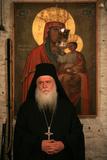 Senior Monk at Koutloumoussiou Monastery on Mount Athos Photographic Print