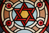 Stained-Glass Window in Eldrige Street Synagogue Photographic Print