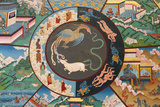 Wheel of Life or Wheel of Samsara: Rooster, Snake and Pig Photographic Print
