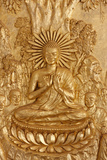 Sylver Pagoda, Buddha Preaching to His First Five Disciples Photographic Print