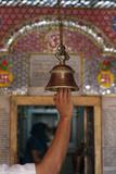 Bell in Krishna Temple, New Delhi Photographic Print