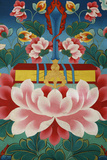 Lotus Flower, Sword of Knowledge and Sacred Text Photographic Print