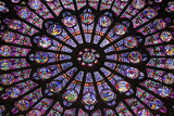 North Rose Window in Notre-Dame-De-Paris Cathedral Photographic Print