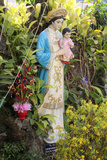 Statue of the Virgin Mary in the Garden of a Catholic Church Photographic Print