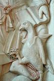 Mont Saint Michel Abbey, Saint John, Symbolised by an Eagle Photographic Print