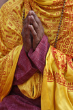 Hindu Prayer in Parmath, Rishikesh Photographic Print
