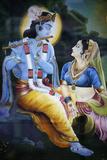 Picture of Hindu Gods Krishna and Rada Photographic Print