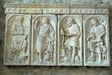 Mont Saint Michel Abbey, The Evangelists Photographic Print