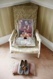 Bhaktivedanta Manor Srila Prabhupada's Shoes and Armchair Photographic Print