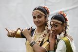 Dancers at Janmashtami Festival at Bhaktivedanta Manor Iskcon (Hare Krishna) Temple Photographic Print