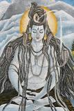Meditating Shiva with Naja Snakes in Pashupatinah Photographic Print