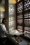 Coran Reading in a Doha Mosque Photographic Print