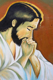 Jesus Painting Photographic Print