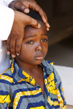 African Child Blessed by a Priest Photographic Print