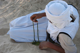 Bedouin with Prayer Beads Photographic Print