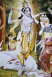 Krishna and the Gopi as Depicted on a Hare Krishna Calendar Photographic Print