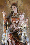 Virgin and Child Sculpture in St Peter's and St Paul's Church Photographic Print