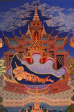 Detail of a Mural Painting in the Uposatha (Shrine Hall) of Buddhapadipa Temple Photographic Print