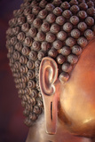 Detail of Buddha Statue Photographic Print