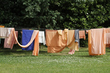 Bhaktivedanta Manor Drying Laundry Photographic Print