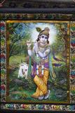 Krishna Tapestry in Bhaktivedanta Manor Iskcon (Hare Krishna) Temple Photographic Print