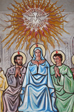 Painting in Our Lady of Togo Church, Holy Spirit, Virgin Mary and Disciples Photographic Print
