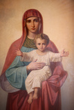 Virgin and Child Icon in St Stephen's Bulgarian Church Photographic Print
