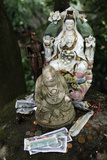 Money Offering and Statues in the Garden of Buddhapadipa Temple Photographic Print