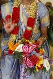 Girl Impersonating Hindu Goddess Radha Photographic Print