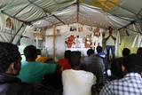 Church Service in Choucha Refugee Camp Photographic Print