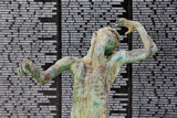 The Holocaust Memorial, Miami Beach Detail of a Sculpture of Love and Anguish by Kenneth Treister Photographic Print