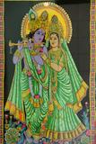 Shiva Temple, Krishna, Radha and the Flute Photographic Print