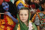 Children at Janmashtami Festival Photographic Print