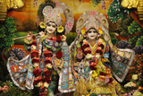 Krishna and Rada Statues in Bhaktivedanta Manor Iskcon (Hare Krishna) Temple Photographic Print